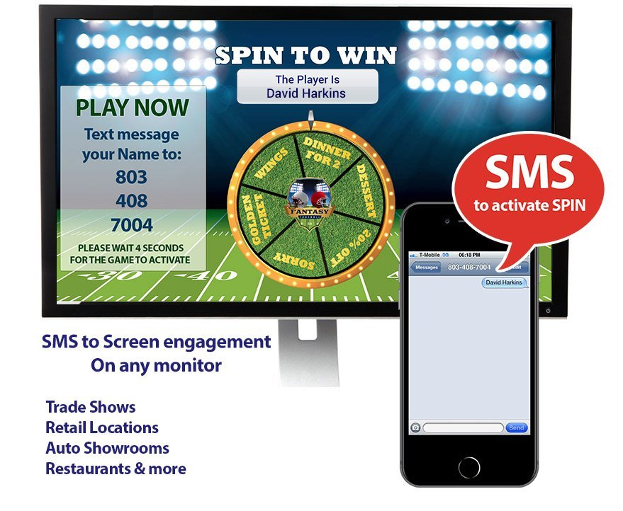 SMS to Screen - Digital Signage Text to Monitor Game